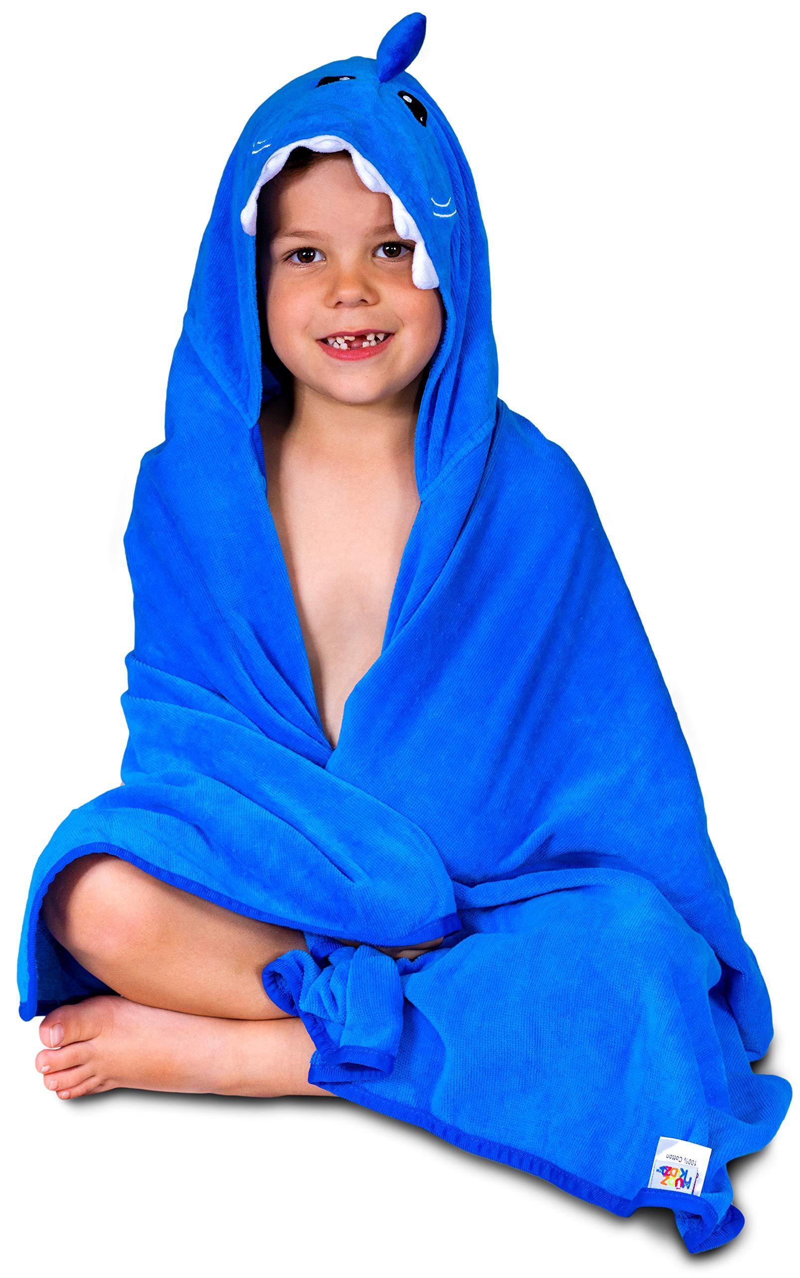 Hudz Kidz Hooded Towel for Kids & Toddlers, Ideal at Bath, Beach, Pool by Hudz Kidz (Image #5)