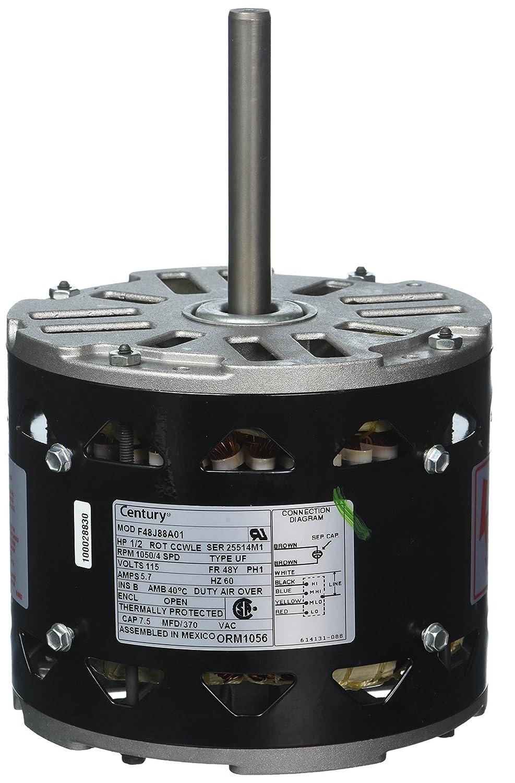 Rheem Rudd Motor 51 228733 01 1 2 Hp 1075 Rpm 115v Century Mlo Wiring Diagram Orm1056 Hvac Controls