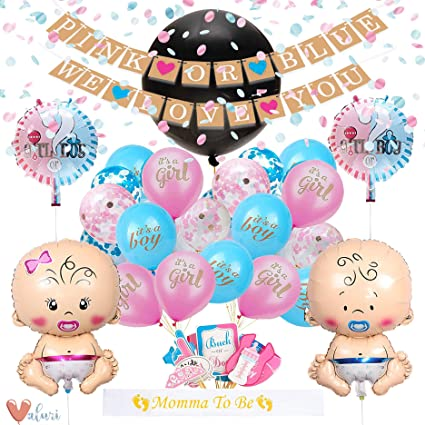 Möbel & Wohnen 46 PC Baby Gender Reveal Party Supplies Gorgeous Shower Decoration Includes P Party- & Eventdekoration