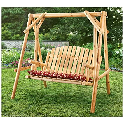Amazon Com Castlecreek 4 Log Swing 2 Person Porch Swings