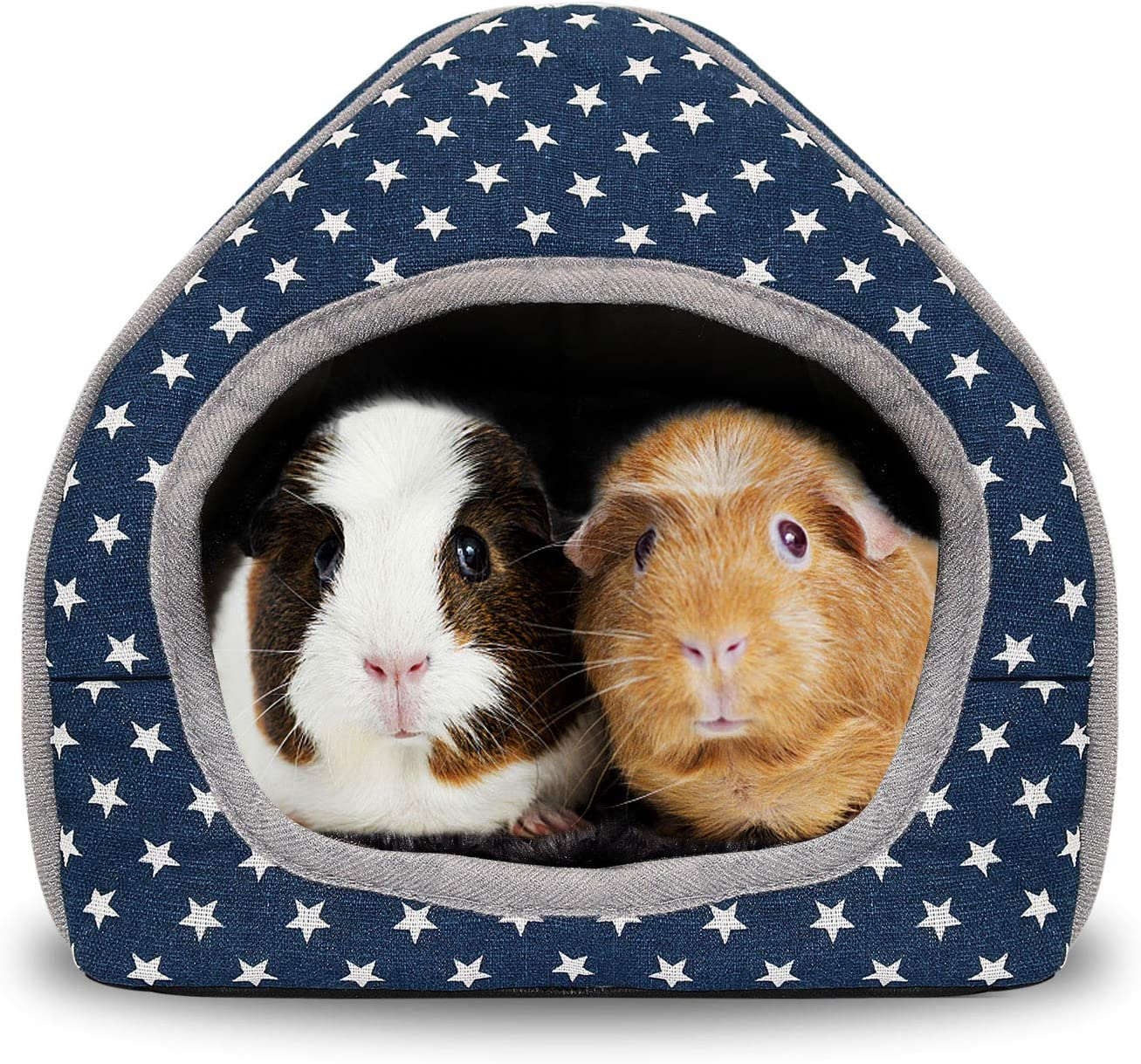 BWOGUE Guinea Pig Bed Cave Cozy Hamster House Large Hide-Out for Rabbit Ferret Hedgehog Chinchilla Bearded Dragon Winter Nest Hamster Accessories