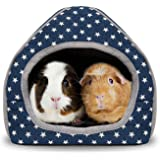 BWOGUE Guinea Pig Bed Cave Cozy Hamster House Large Hide-Out for Rabbit Ferret Hedgehog Chinchilla Bearded Dragon Winter Nest
