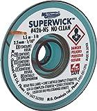 "MG Chemicals #4 No Clean Super Wick Desoldering Braid, 0.1"" Width x 5' Length, Blue"