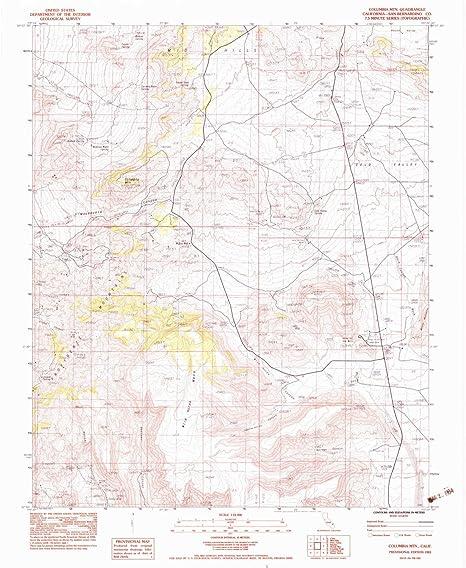 Amazon Com Yellowmaps Columbia Mtn Ca Topo Map 1 24000 Scale 7 5