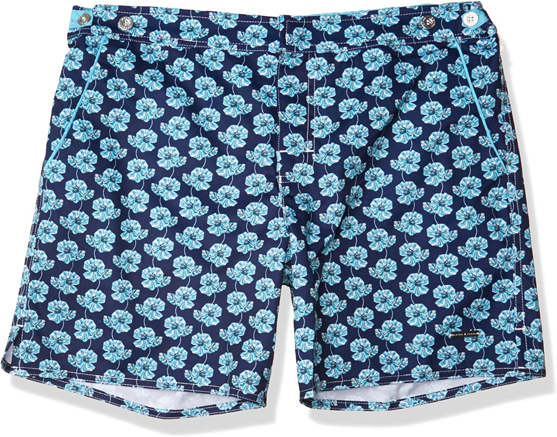 parke & ronen Men's Catalonia Print 6 Inch Swim Short