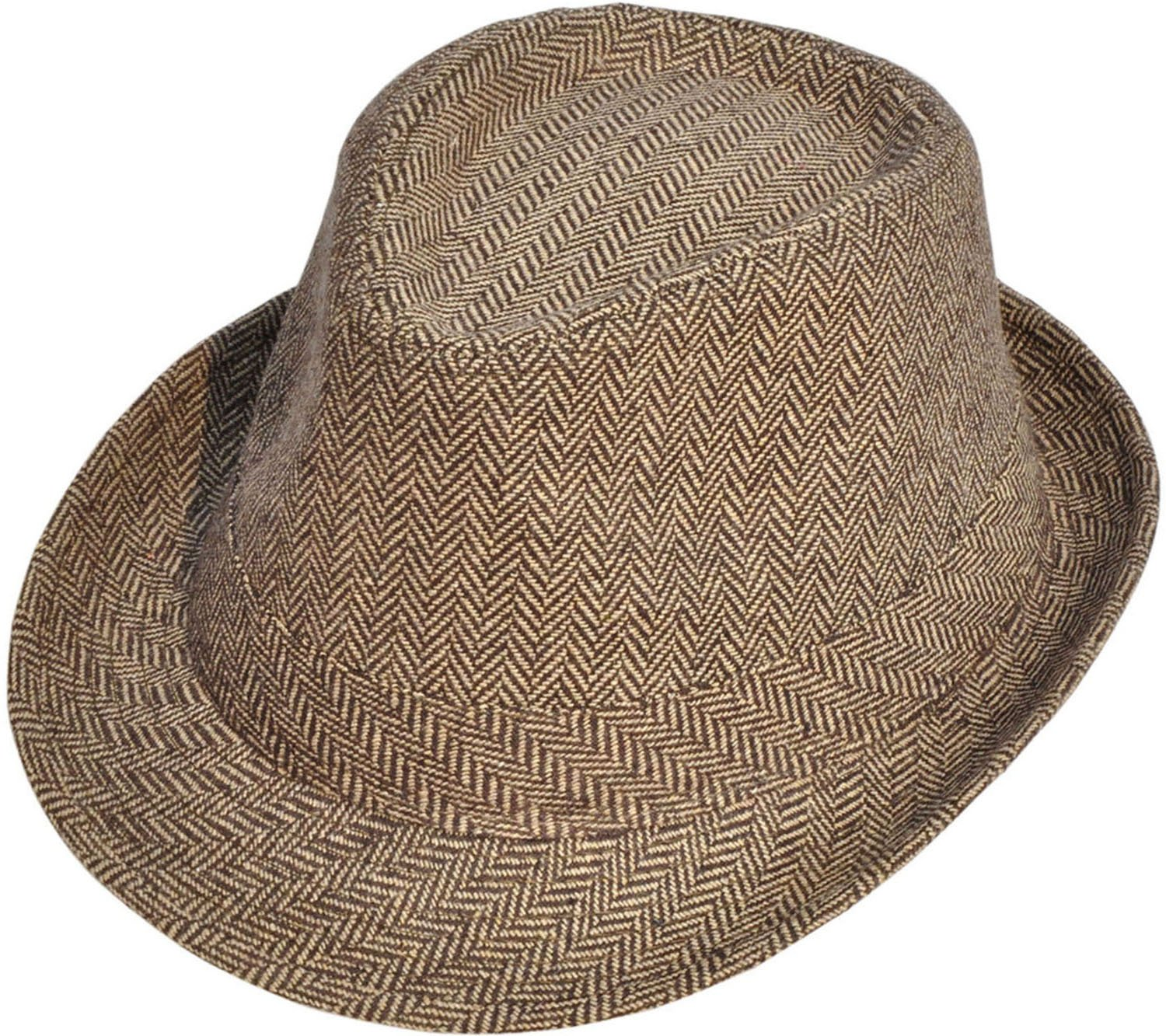 0862847ed 40% discount on Simplicity Unisex Structured Gangster Trilby Wool ...