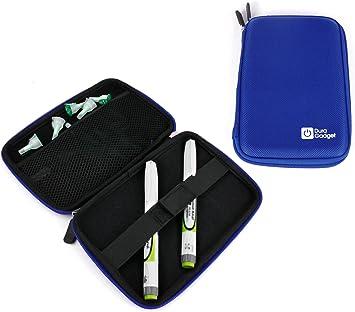 DURAGADGET Estuche Rígido Azul para Diabéticos Transportar El Lector De Glucemia/Pluma De Insulina: Amazon.es: Electrónica