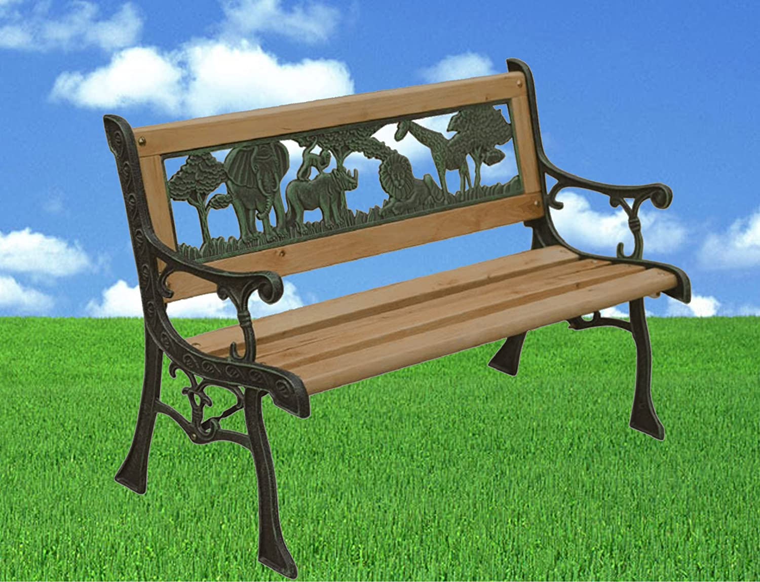 . Kids Wooden Garden Bench 82cm  Amazon co uk  Garden   Outdoors