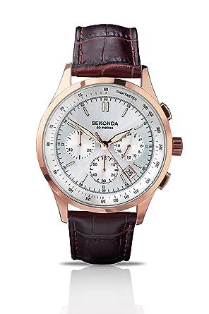 Sekonda Gents Rose Chronograph Strap Watch