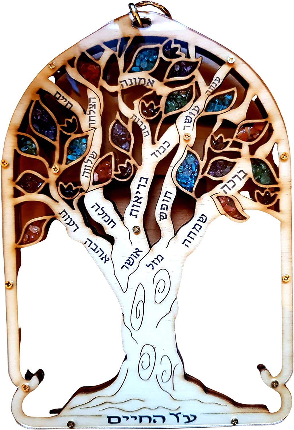 Hebrew Blessing for the Home. Bluenoemi Israel Gifts Blessings Tree of Life Wall Hanging Gift Hebrew Housewarming.