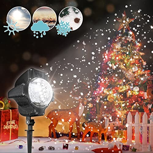 Poeland garden lights outdoor star projector static firefly with led led christmas projectorsnowflake onlycamtoa snowflake light projectorsnow led christmas mozeypictures Gallery