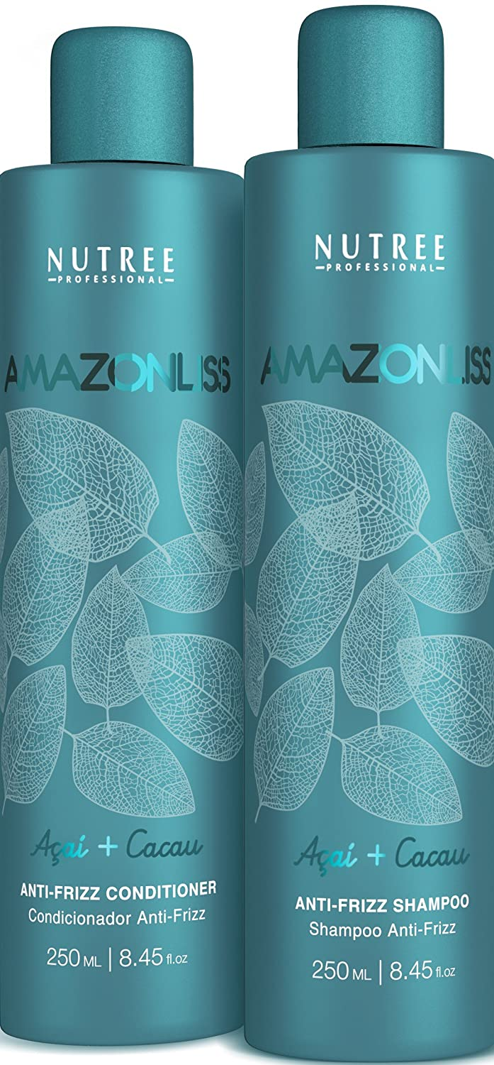 Amazonliss Home Care Anti Frizz After Care Post Treatment Shampoo and Conditioner Set 8.45 fl.oz - For Keratin Treated Hair - Prolongs the Smooth Effect - Leaves Hair Incredibly Soft and Shiny