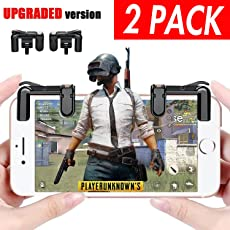 Mobile Game Controller for Apple iPhone 7 8 Plus X Android Phone, Mobile Game Controller for PUBG Fortnite Knives Out Rules of Survival Newest Version