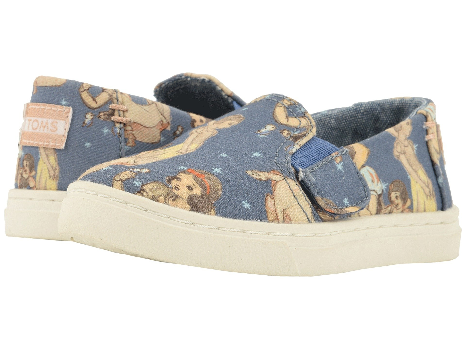 TOMS Girl's, Luca Slip on Shoes Blue 4 M by TOMS Kids (Image #7)