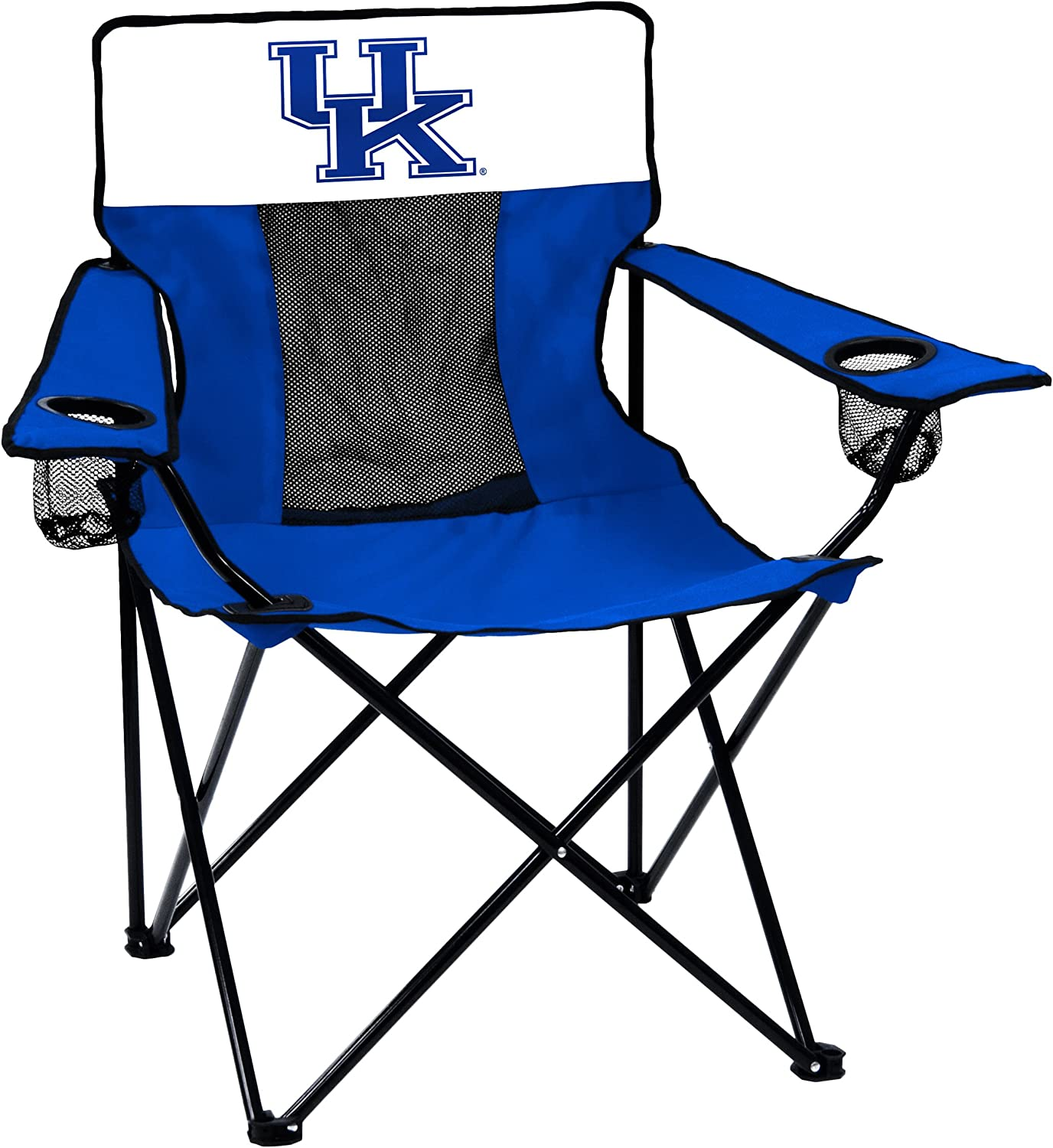Logo Brands NCAA Collegiate Unisex Adult Elite Chair with Two Cups Holder, One Size, Multicolor