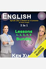 English: Speak Like a Native in 5 Lessons for Busy People, 5 in 1 Audible Audiobook