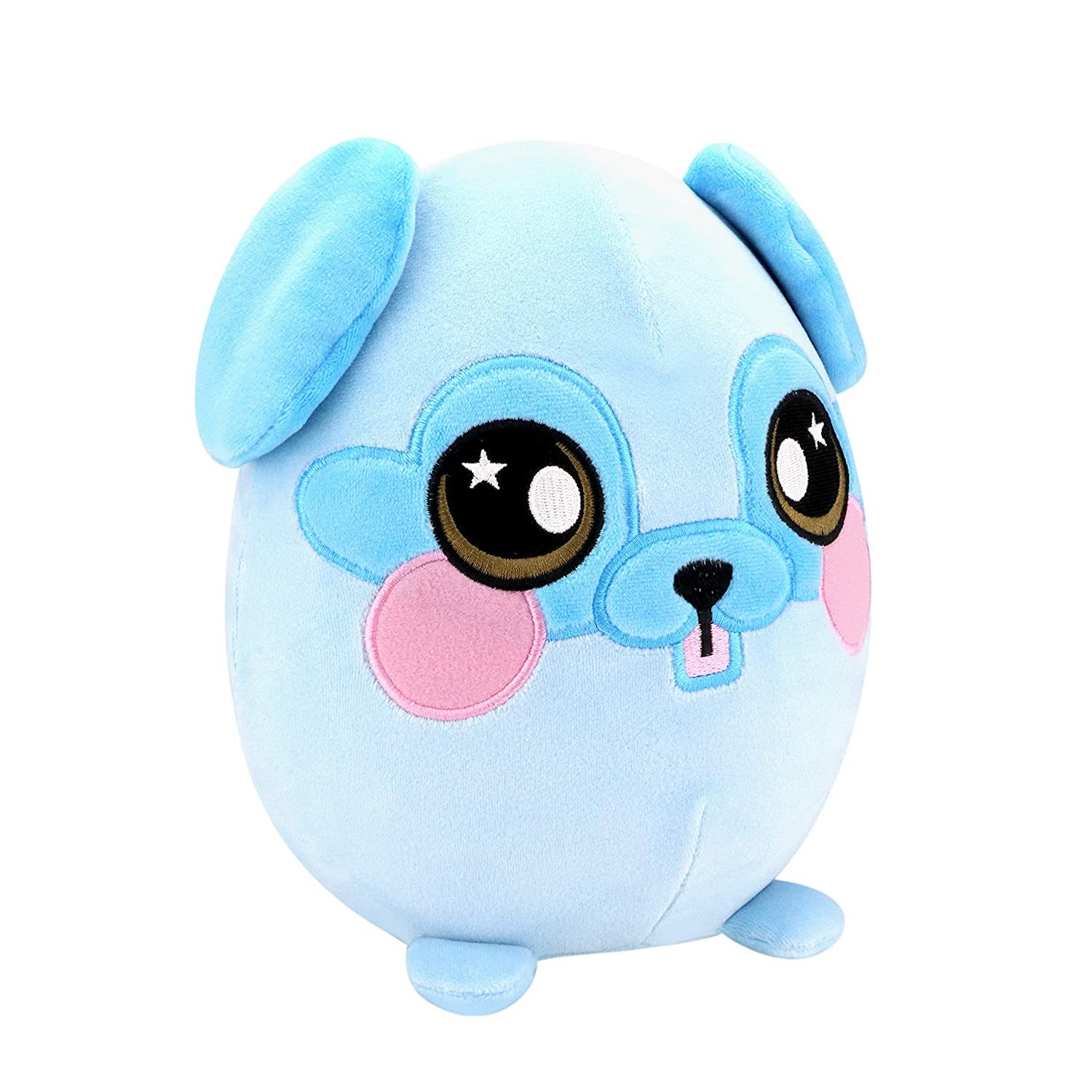 Squeezamals BH31712.4300 a Large Slow Rise, Cuddly, Soft, Squshie, Sweet Scented Plush Animal Toy, Blue