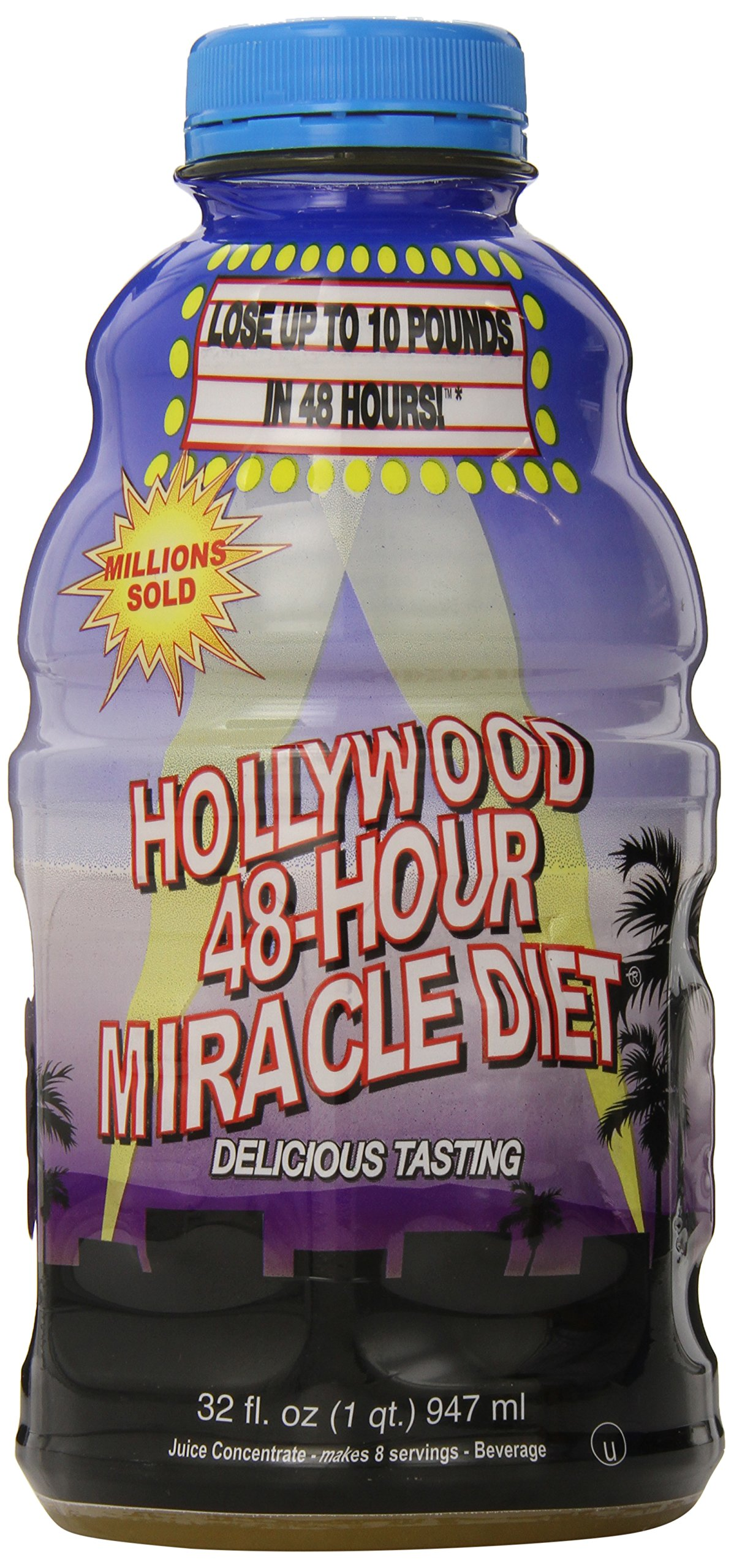 Hollywood Miracle Diet 48-Hour Diet, Natural Drink-Fruit Blend-32 oz by Hollywood Miracle Diet