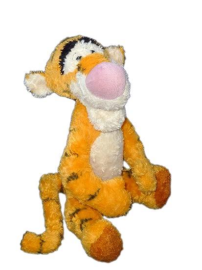 Doudou peluche Tigger naranja largos cerdas Disneyland Resort Paris H 40 cm sentado CH0505