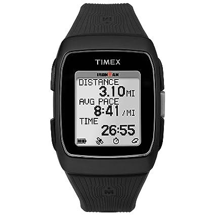 Amazon.com  Timex Unisex TW5M11700 Ironman GPS Black Silicone Strap ... d099b4ffcd