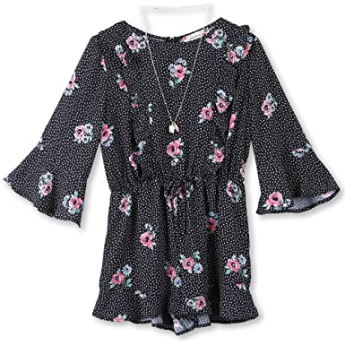 185ea4f0cba Amazon.com  Speechless Girls  Big Bell Sleeve Romper  Clothing