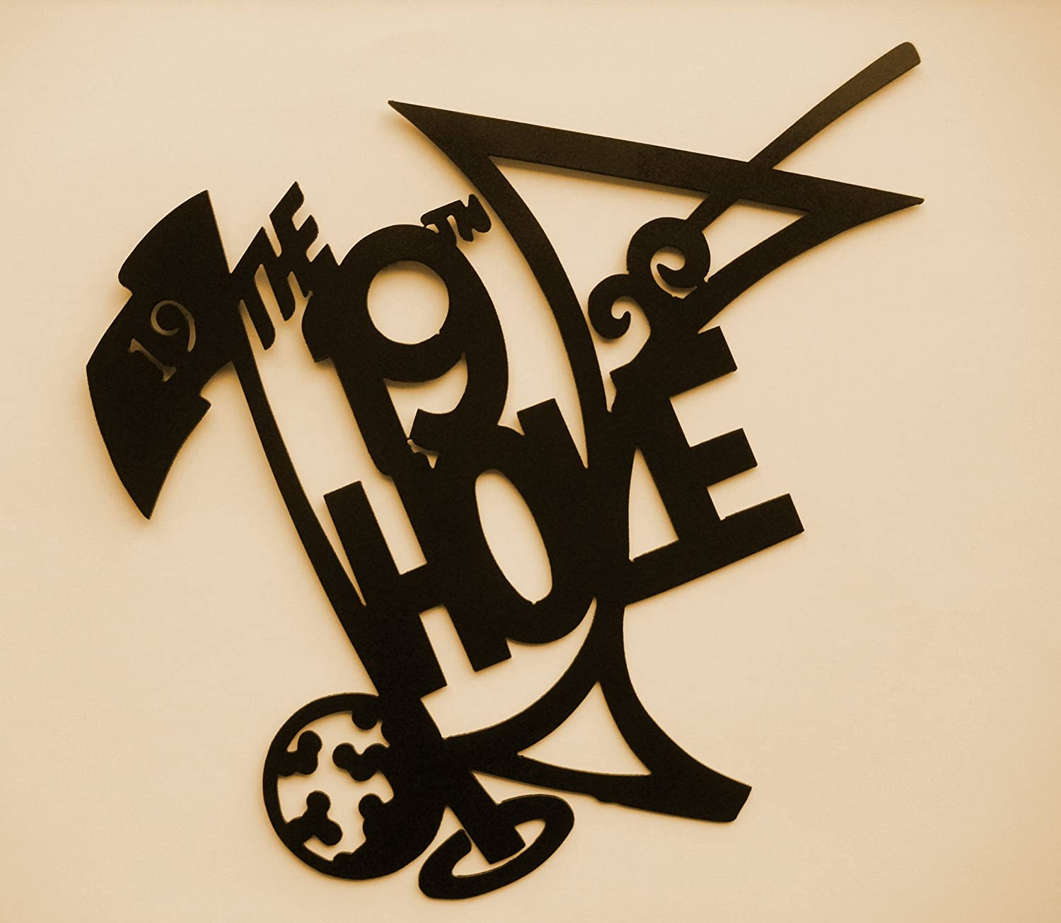 Amazon.com: Golf, 19th Hole, Metal Art, Golfer, Bar, Drinking, Fore, Wall  Decor, Approximately 9 ½ Part 17