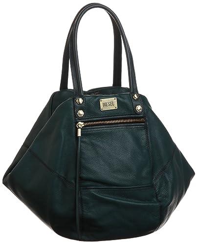 8bd7d9df08 Diesel Womens DIVINA MEDIUM Handbag Turquoise Türkis (Atlantic Deep T6105)  Size: 47x35x18 cm