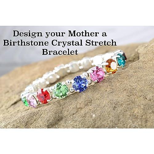 amazon com design your mom a special crystal stretch bracelet for
