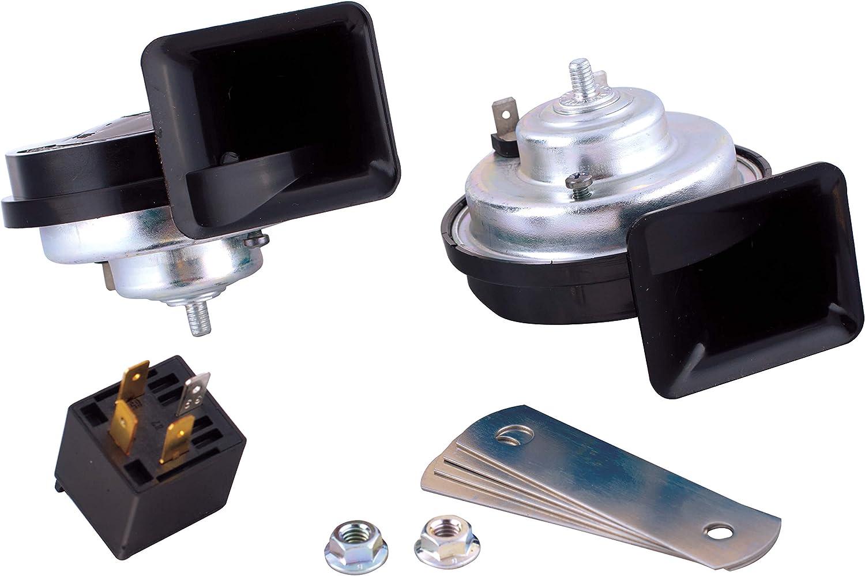 SUMEX 2505014 Car Double Horn Set 12 V// 8 Amp Black