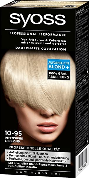 syoss coloration 10 95 intense eisblond hair color - Coloration Syoss
