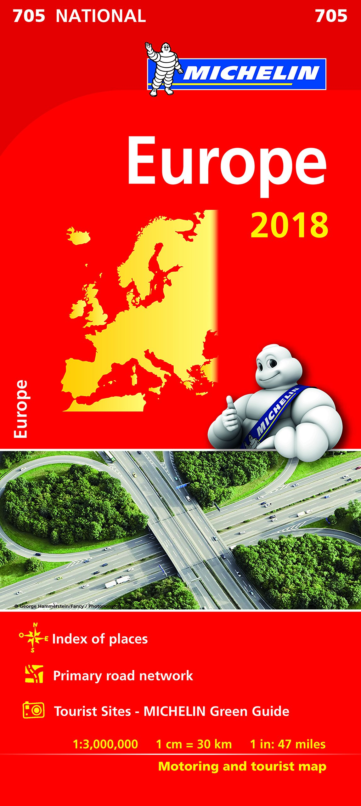 Europe 2018 National Map 705 (Anglais) Carte – Carte pliée, 8 janvier 2018 Michelin Michelin Maps 2067228617 Karten / Stadtpläne
