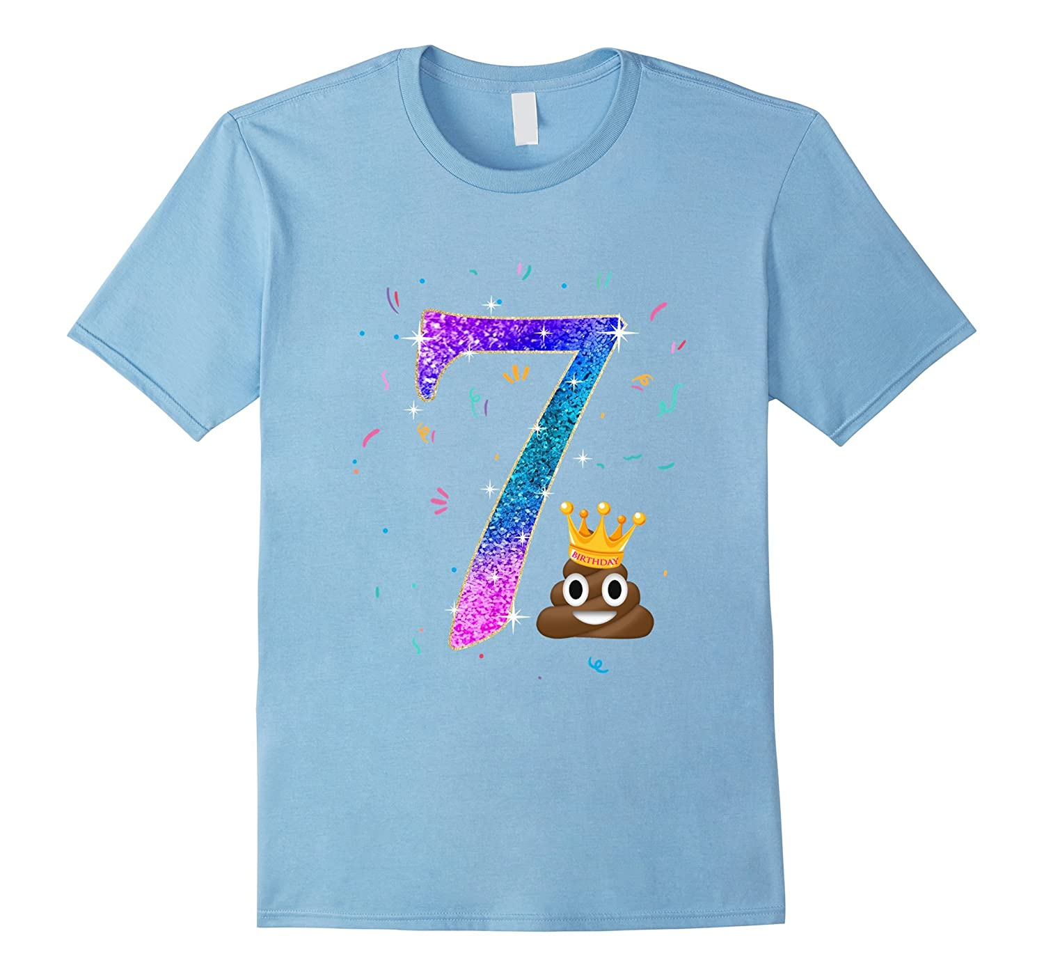 7th Birthday Shirt Poop Emoji Birthday Shirt Funny Gifts