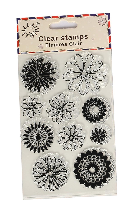 Rubber Stamp Flower Block