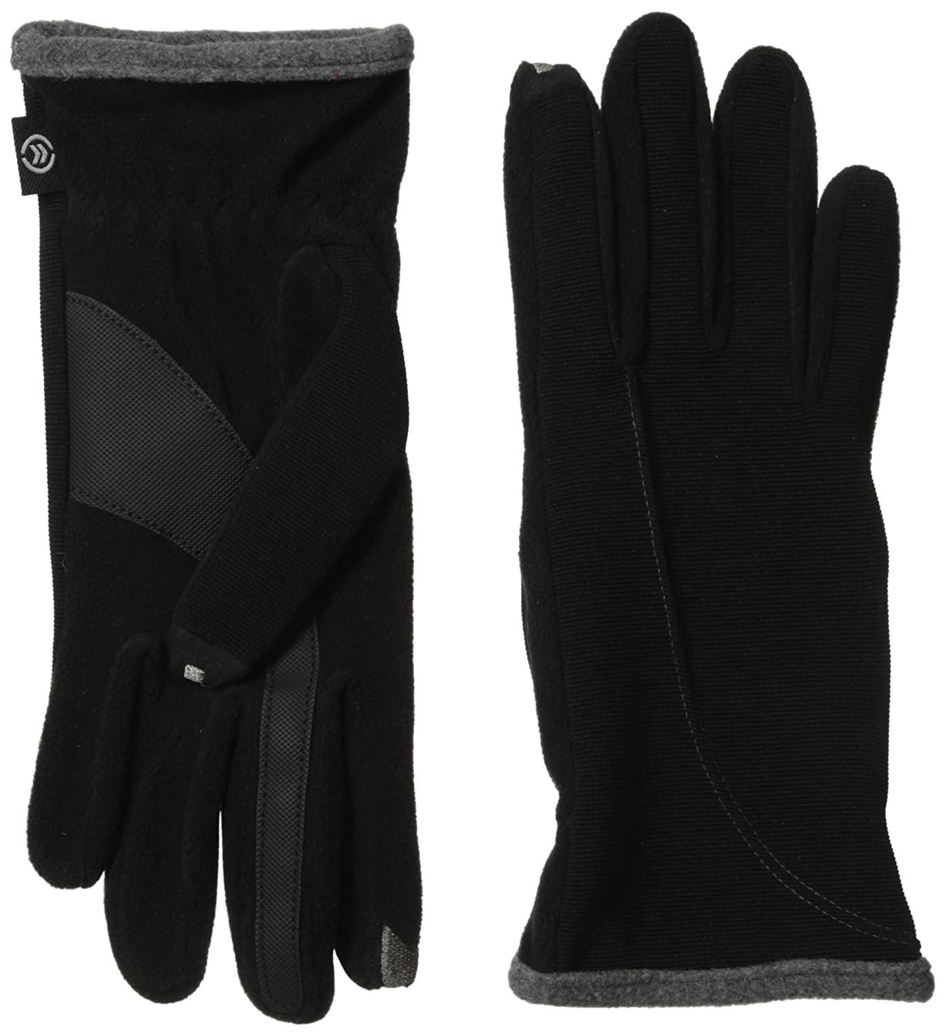 Black leather cut off gloves - Isotoner Women S Smartouch Stretch Ottoman Glove