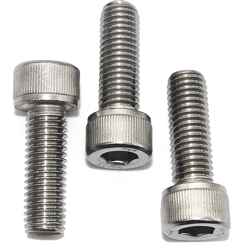 Machine Thread Full Thread AISI 304 Stainless Steel Quantity 10 18-8 Allen Socket Drive Din 912 Fullerkreg M8-1.25 x 30MM Socket Head Cap Screws Bright Finish