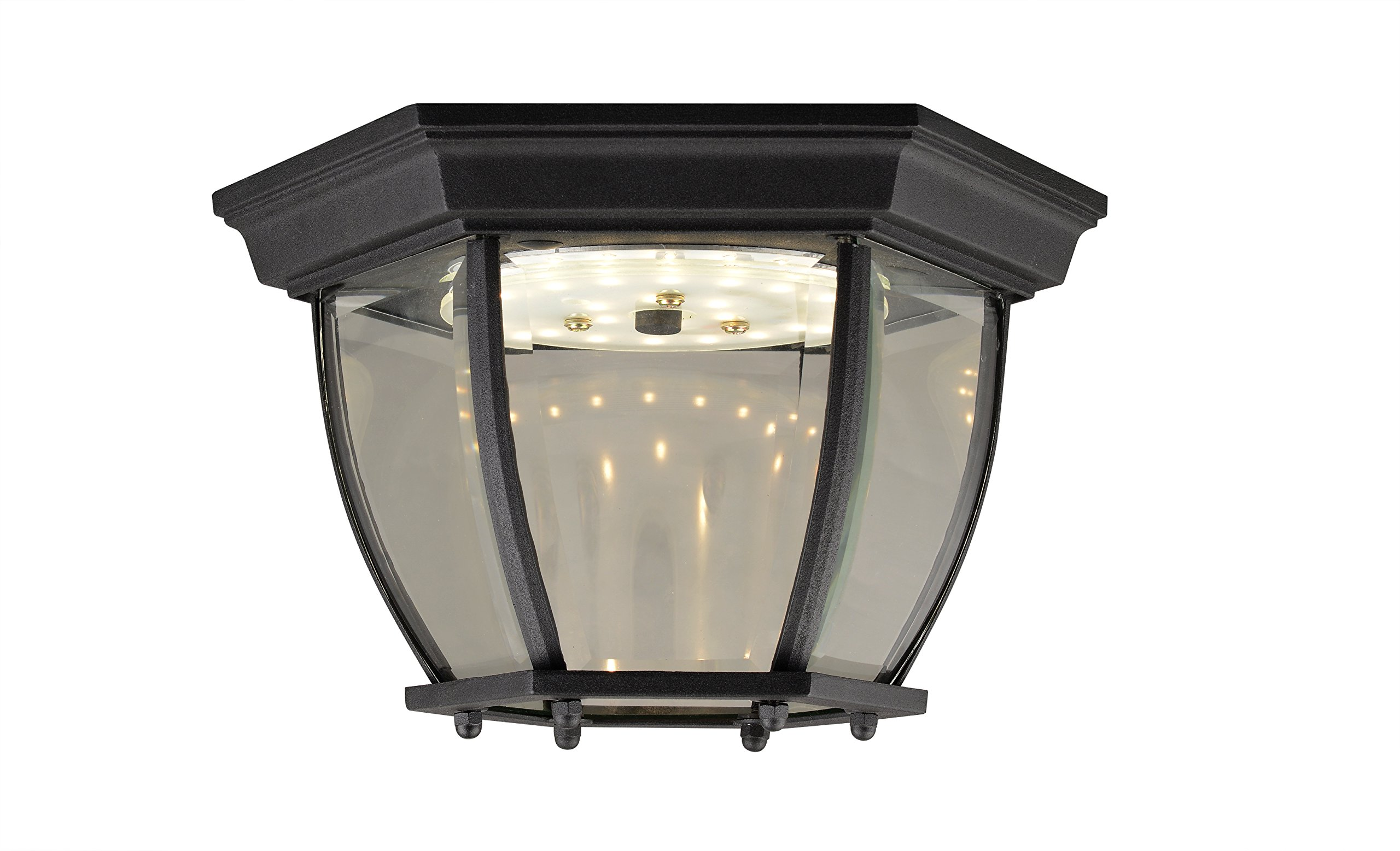 Design House 578518 Canterbury II LED Outdoor Ceiling Light, Black