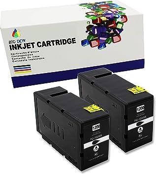 Big Dew 2PK PGI-1200XL 1200 XL Compatible Black Ink Cartridges For Canon MAXIFY MB2020 MB2320 MB2120 MB2720