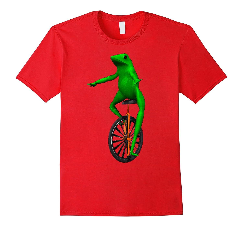 Dat Boi Unicycle Frog T-Shirt-TD