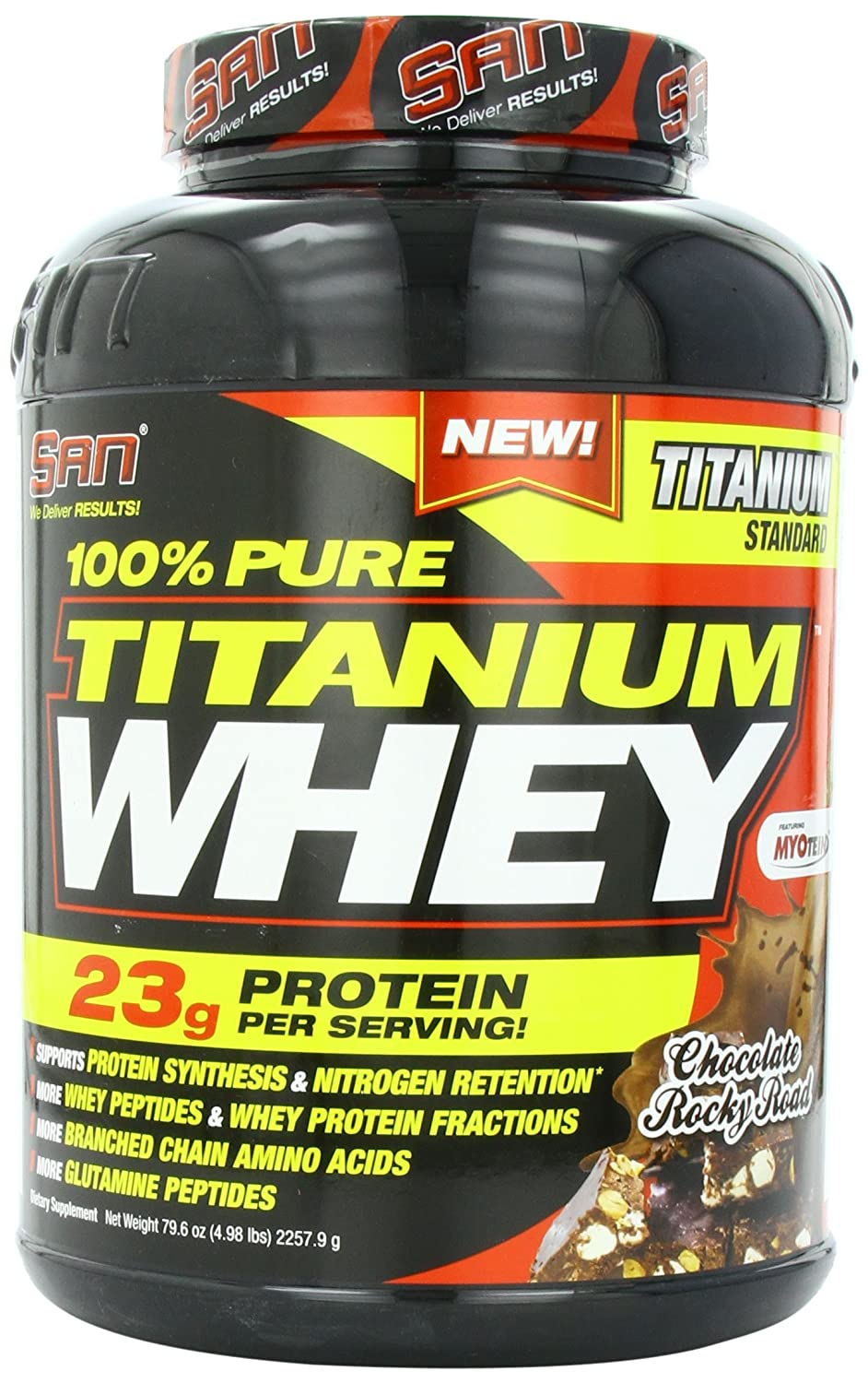 San Whey 100% Pure Titanium 4.98 Whey B00D3J4DAS Chocolate Rocky Road 4.98 lbs B00D3J4DAS, DRAGON'S WAY:a87ed44c --- dakuwebsite.xyz