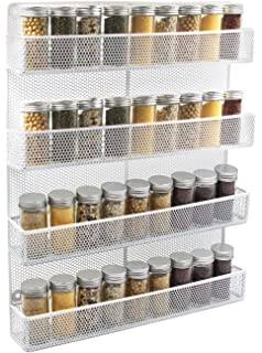 Superieur 4 Tier Spice Rack   Cabinet Door And Wall Mountable Spice Rack   Herb Rack  Chrome   Kitchen Cupboard ...