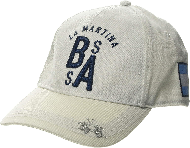 La Martina Twill Hat Gorra de béisbol, Negro (Chili Pepper 06007 ...