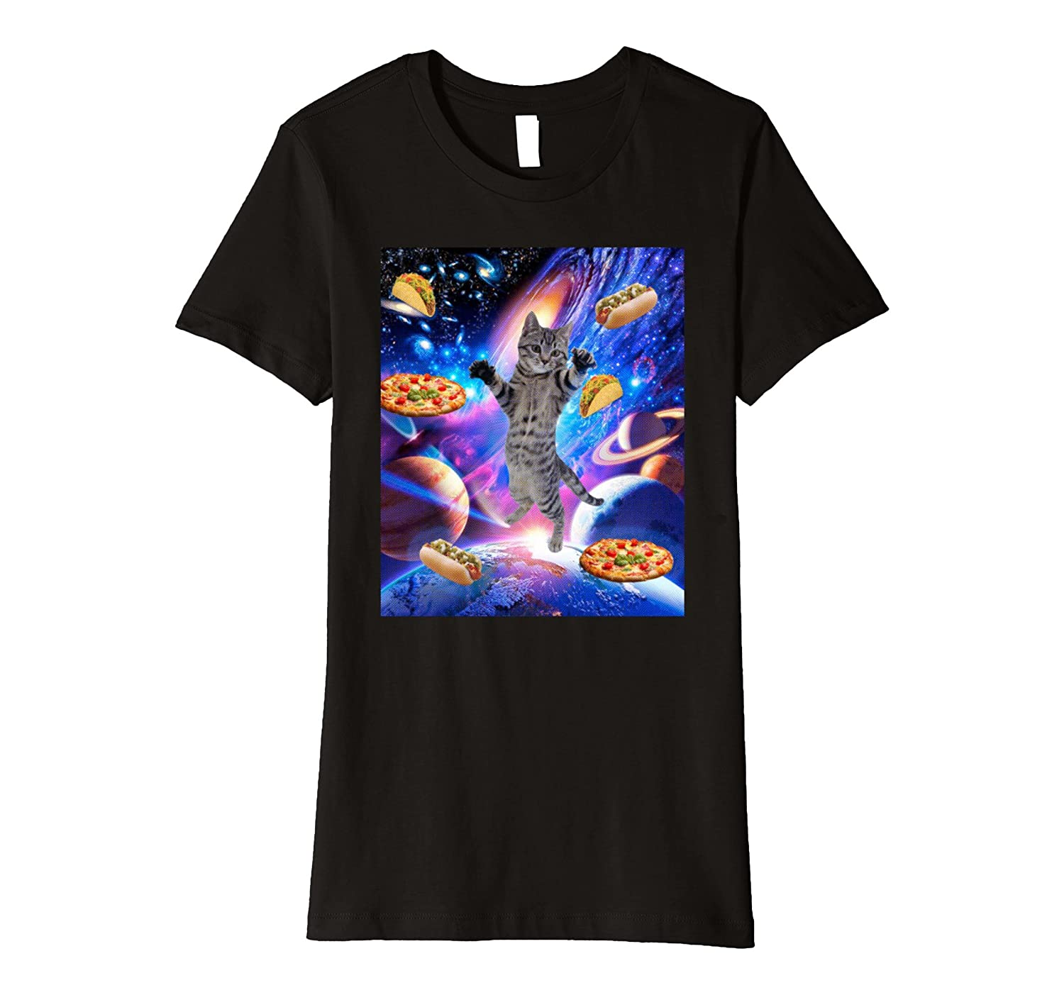 Hungry Space Cat – Trippy Shirt design with vivid colors