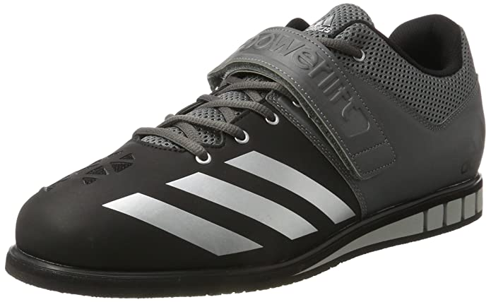 newest 48049 4706d adidas Powerlift.3, Chaussures Multisport Indoor Homme, Gris  (Cblack silvmt ironmt), 49 1 3 EU  Amazon.fr  Chaussures et Sacs
