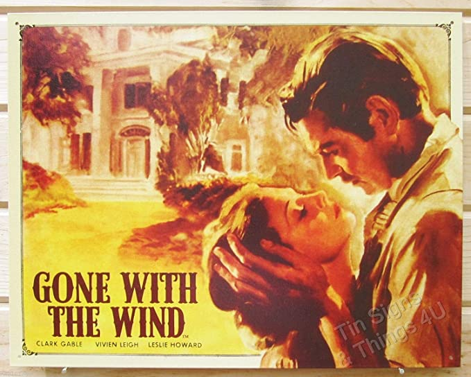 gone with the wind  VINTAGE ADVERTISING ENAMEL METAL TIN SIGN WALL PLAQUE