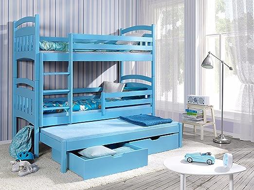Etagenbett Quba 3 : Massivholz kiefer weiß etagenbett liegeflächen inkl