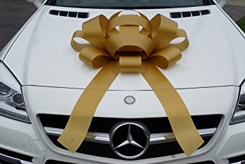Non Scratch Magnet White CarBowz Big Car Bow Surprise We Love You Weather Resistant Vinyl Giant 30 Bow