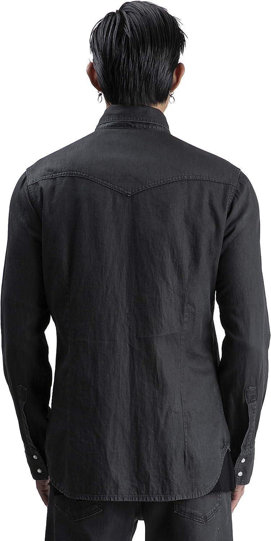 A.M. Couture – Camisa Vaquera Negra para Hombre, colección FW 19/20: Amazon.es: Ropa y accesorios