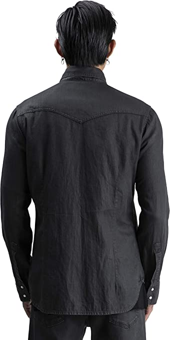A.M. Couture – Camisa Vaquera Negra para Hombre, colección FW ...