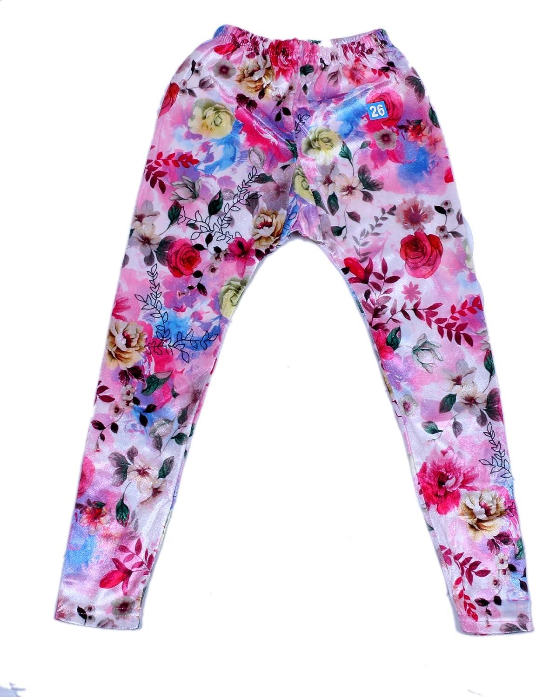 Indistar Kids Velvet /& Embossed Multicolor Leggings Combo Pack of 2