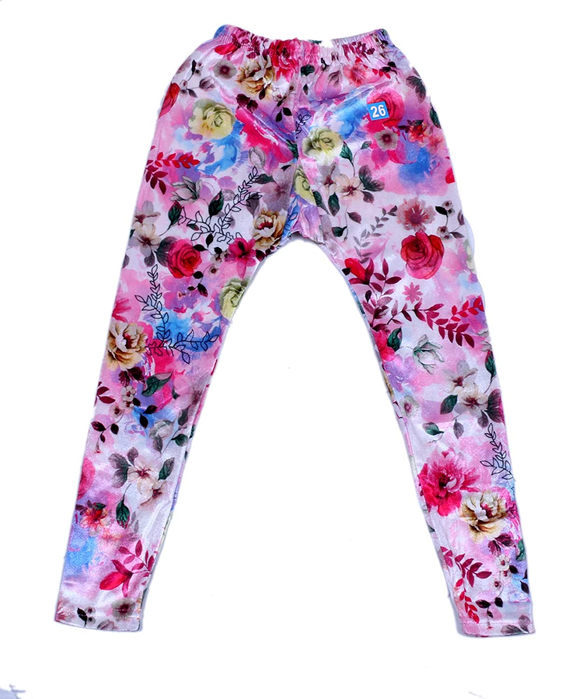 Indistar Kids Velvet Multicolor Leggings Combo Pack of 4